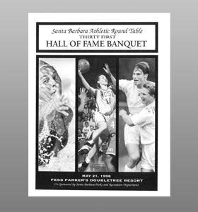 Santa Barbara Athletic Round Table 1998 Hall of Fame Banquet Cover