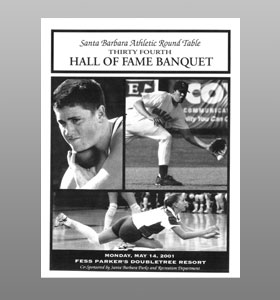 Santa Barbara Athletic Round Table 2001 Hall of Fame Banquet Cover