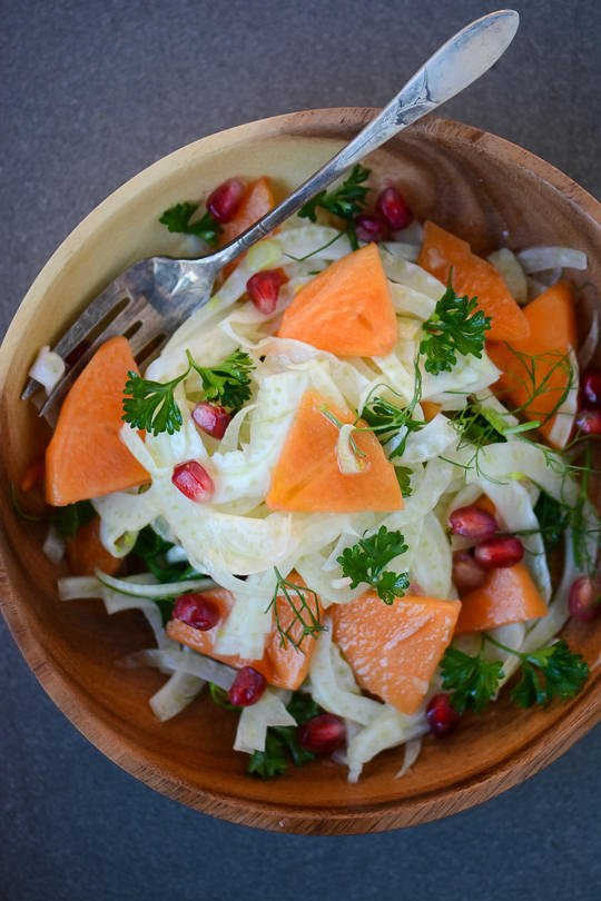 Make sure to add this fennel, persimmon and pomegranate salad to your holiday table!