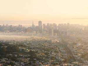 San francisco morning sun