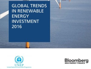 investment oil solar wind Bloomberg UNEP