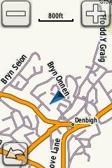 2 Garmin map - tap blue triangle