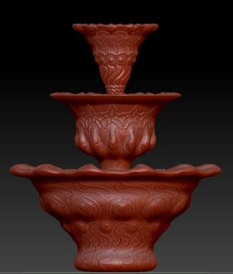 Fountain modeled in Zbrush