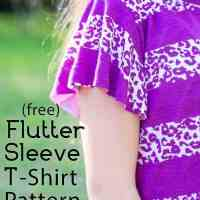 Free Flutter Sleeve Sewing Pattern (t-shirt 3 - 10)