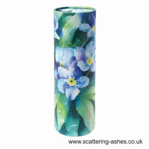 Forget me not scatter tubes - Cremation urn for scattering ashes