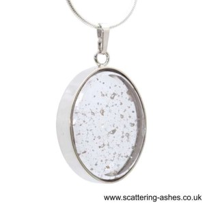 memorial glass oval pendant sq