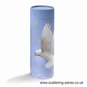 Cremation urn for scattering ashes