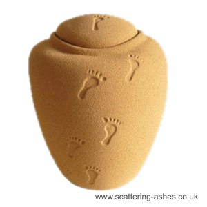 Footprints bio water urn sand