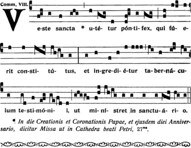 Missa pro Eligenda - Communion Veste sancta, ton viii