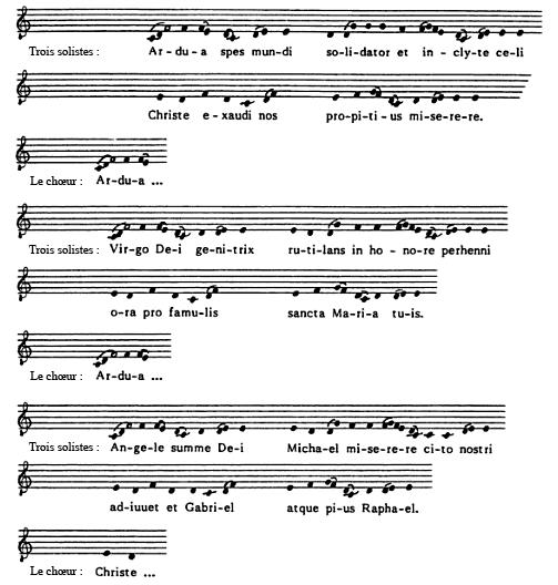 Une litanie rythmée de Saint-Gall en usage à Rouen le mercredi des Rogations
