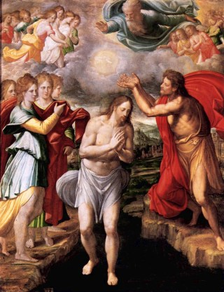 Le baptême du Christ par Navarrete El Mudo