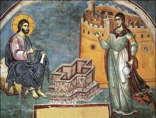 Le Christ rencontre la Samaritaine