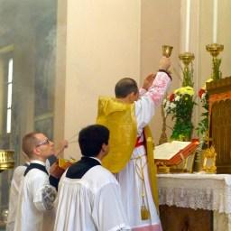 02 - 10 novembre 2013 - messe ambrosienne traditionnelle à San Rocco al Gentilino - l'élévation du calice du Précieux Sang
