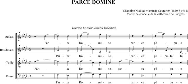 Chanoine Nicolas-Mammès Couturier - Parce Domine