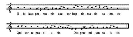 Tibi laus perennis auctor - chant du Missel de Saint-Denys