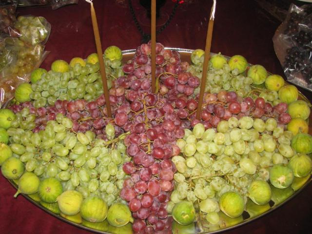 Bénédiction des raisins le jour de la Transfiguration en Grèce