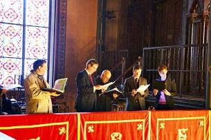 23 - La Schola Sainte Cécile répartie dans 4 tribunes pour la Messe à 4 choeurs de Marc-Antoine Charpentier - Sainte Cécile 2015