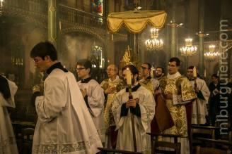 13-Messe d'exposition des Quarante-Heures - procession du Saint Sacrement