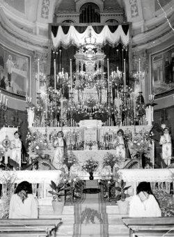 1956 - Les Quarantes-Heures au sanctuaire de San Francesco de Geronimo.