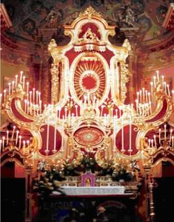 Machine des Quarante-Heures de l'église de Bienno, Italie.
