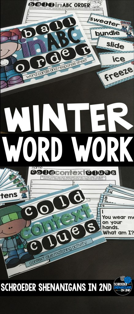 winter word work activities freebie abc order sample