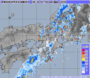 雨雲レーダー画像