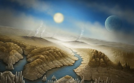 An artist's impression of Kepler 452b, Earth-twin, the new planet. www.nature.com
