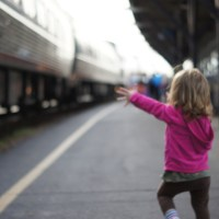 Traveling with Children on the Train