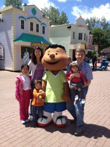 My husband, kids, sister and I at Canada's Wonderland