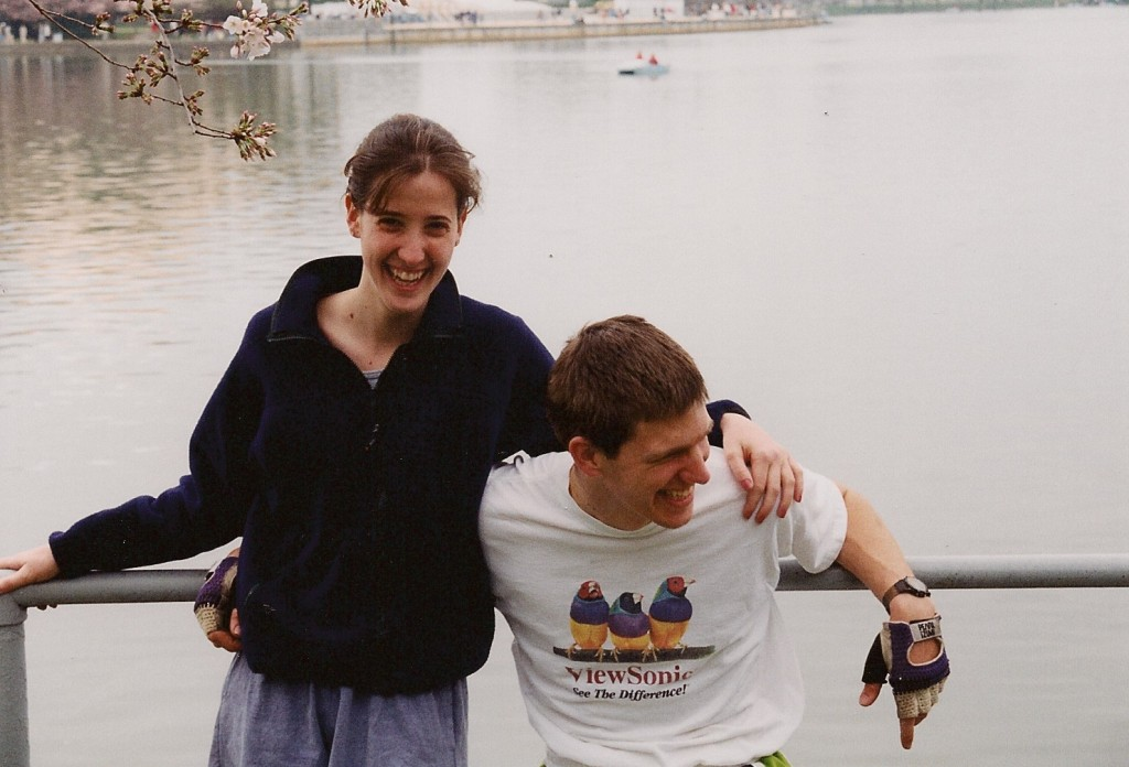 Taken on one of our first dates, a bike ride around the Tidal Basin in Washington DC.