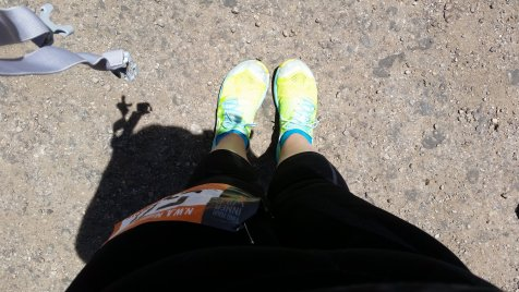 Go Ragnar!  Gearing up for my last run...sockless.