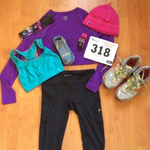 Warm clothes for the race!