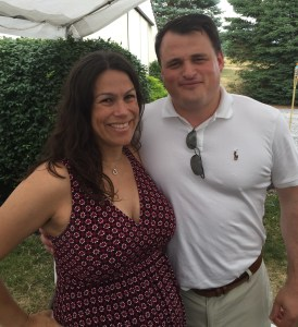 Jo and Vic at a summer wedding
