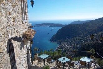 Spectacular view seen from the terrace of the Chateau d'Eza hotel in Eze
