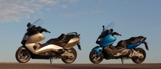 Scooters of distinction: the BMW C 650 GT (left) and C 600 Sport