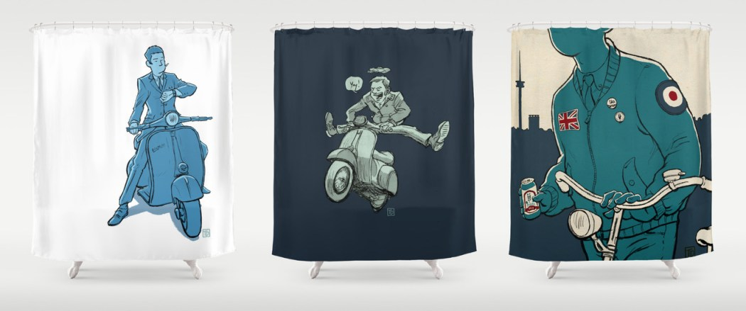 Tobi Dahmen shower curtain at Society 6
