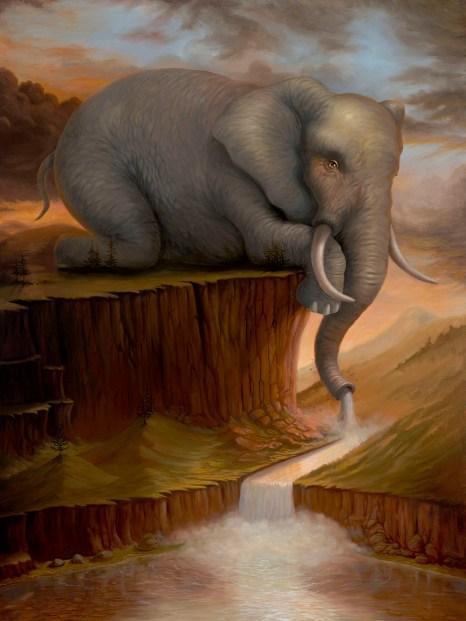 L'eau de LaVasseur - Oil on Canvas