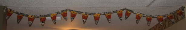 Candy Corn Pennant Garland