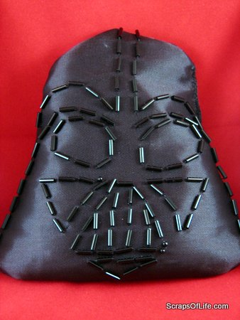 Darth Vader bean bag toy with beaded face