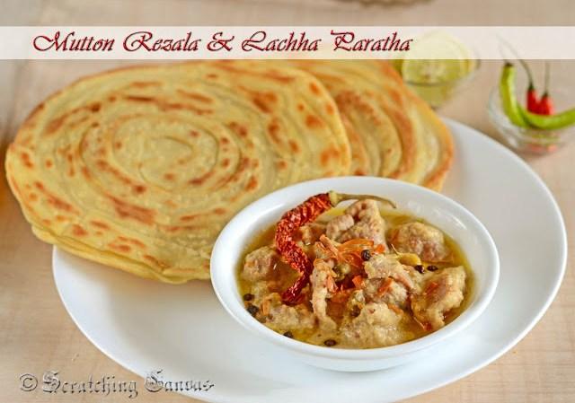 Bengali Mutton Rezala with Lachha paratha