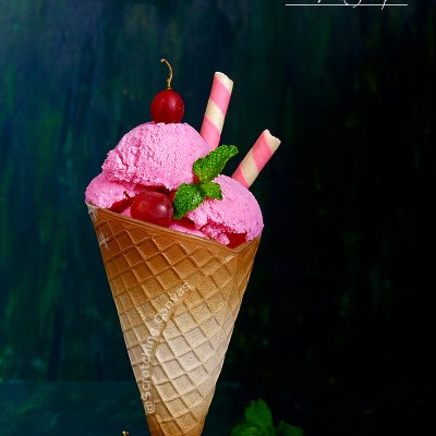 Skinny Vegan Red Grapes Ice-cream | No Churn Ice-cream with two ingredients