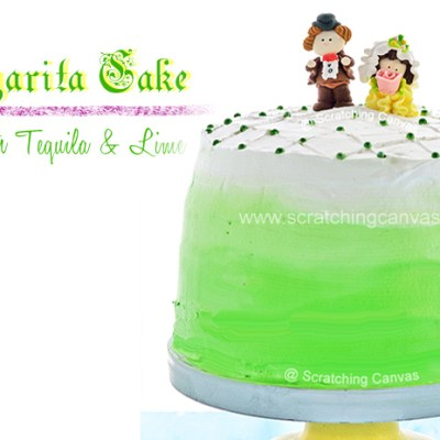 Margarita Cake | Tequila & Lime Cake | Wedding Cake | Boozy Adult Cake