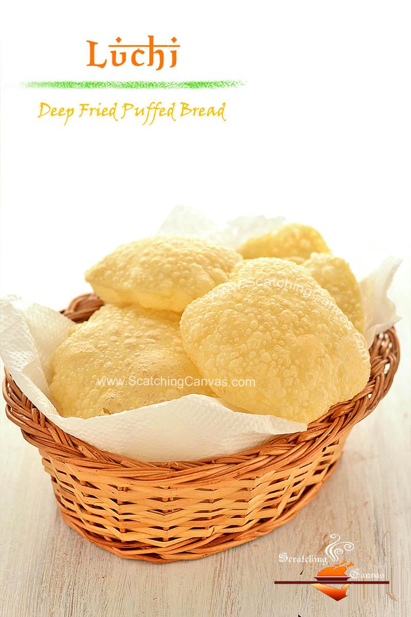 Phulko Luchi step by step Recipe