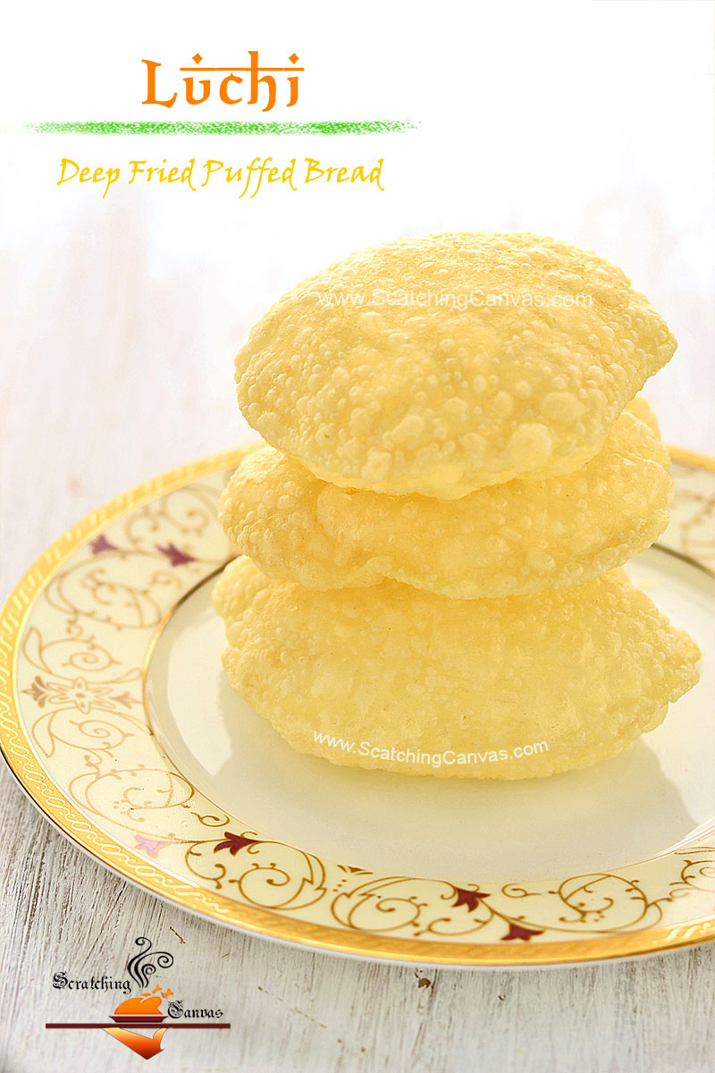 Luchi step by step Recipe Food Photography