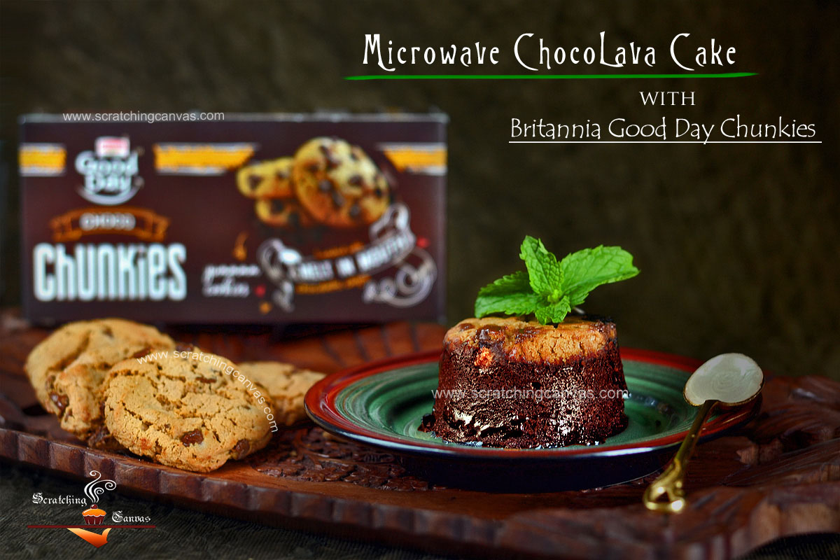 Britannia GoodDay Chunkies Molten Lava Chocolate Cake | Microwave ...