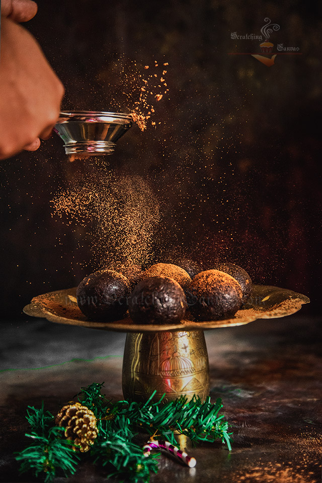 Rum Ball Food Photography Styling