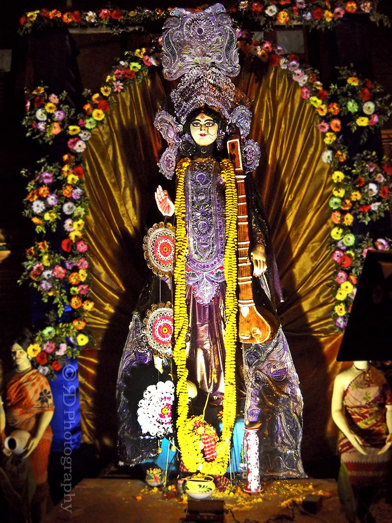 Bengali Saraswati Puja Photography Styling