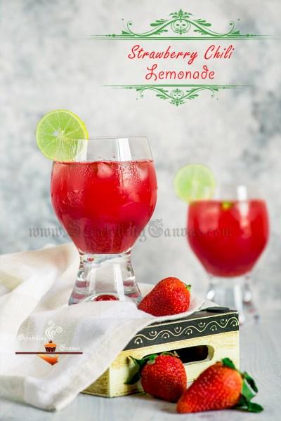 Strawberry Lemonade with Chili Ginger