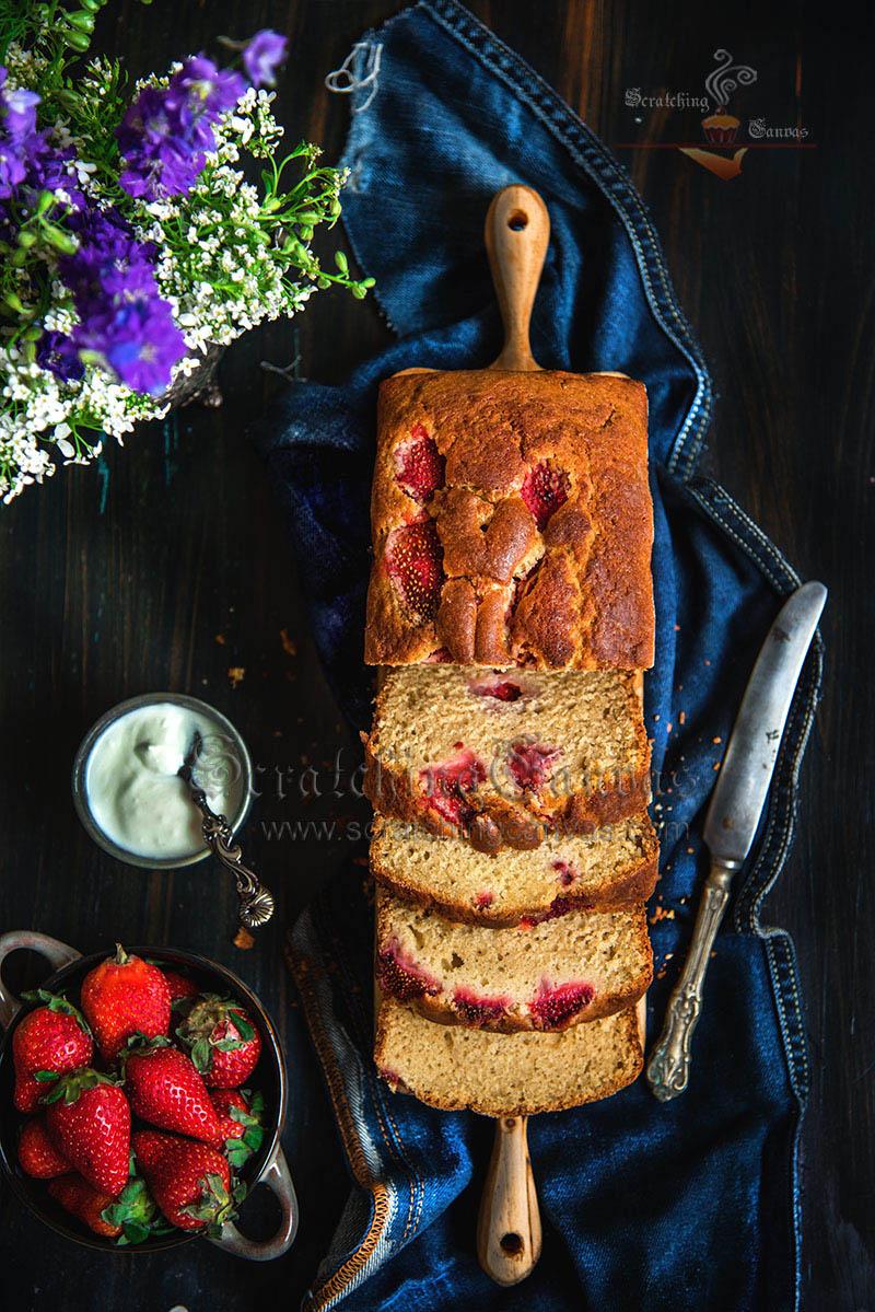 Strawberry Tea Cake Food Photography Styling