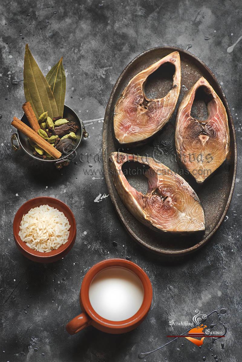 Ilish Polao Ingredients Food Photography Styling
